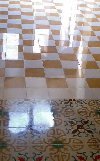 Abrillantado de mosaico hidráulico en la Comunidad Valenciana